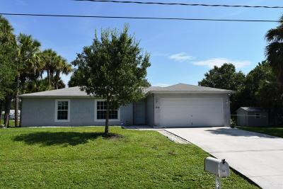 Port Saint Lucie Single Family Home For Sale: 1711 SW Fortune Road