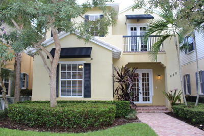 Jupiter Single Family Home For Sale: 220 W Bay Cedar Circle