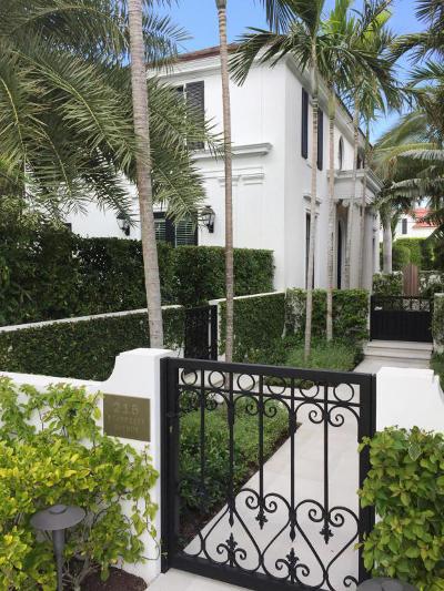 Palm Beach Single Family Home For Sale: 215 Seabreeze Avenue