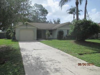 Port Saint Lucie Single Family Home Contingent: 2149 SE Stargrass Street