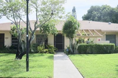 Delray Beach Single Family Home For Sale: 5895 Sugar Palm Court #B