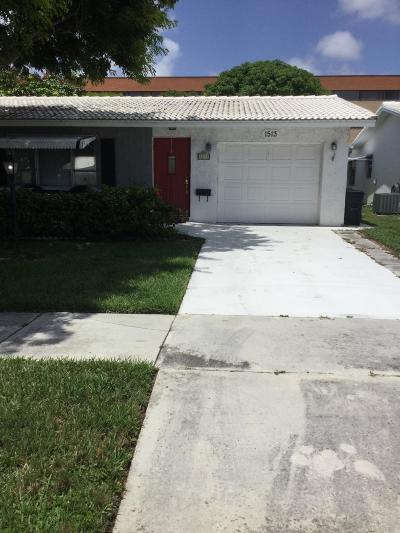 Boynton Beach Single Family Home For Sale: 1513 SW 22nd Street