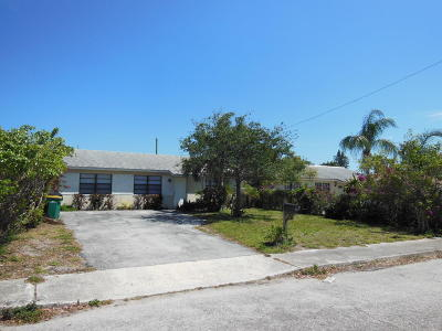 Lake Worth Single Family Home For Sale: 628 Barber Avenue