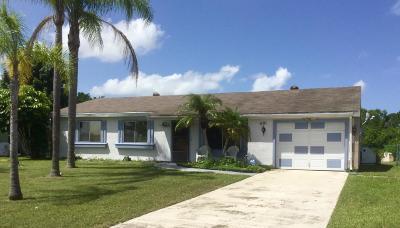 Port Saint Lucie Single Family Home Contingent: 481 SW Belmont Circle