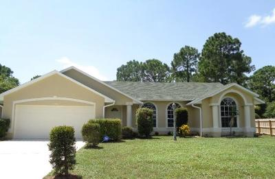 Port Saint Lucie Single Family Home For Sale: 1556 SW Dow Lane