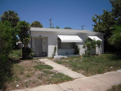 West Palm Beach Single Family Home For Sale: 515 42nd Street