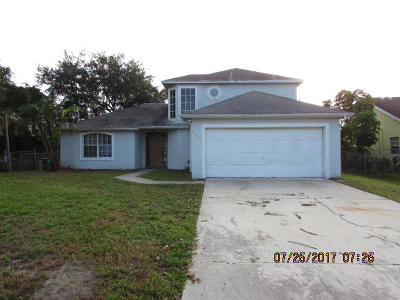 Port Saint Lucie Single Family Home Contingent: 619 NE Emerson Street