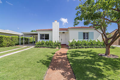 West Palm Beach Single Family Home Contingent: 247 Bloomfield Drive
