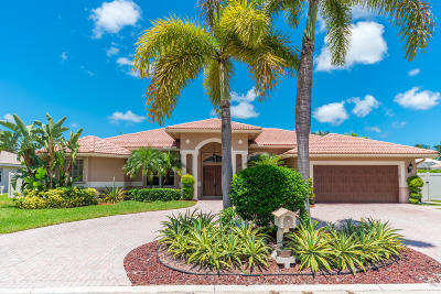 Boynton Beach Single Family Home For Sale: 4789 Cypress Drive S