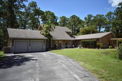 Jupiter Single Family Home For Sale: 11462 161st Street