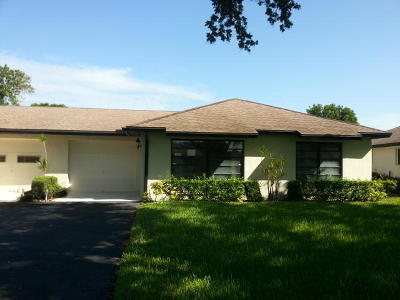 Boynton Beach Single Family Home For Sale: 4872 Dovewood Circle #B