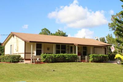 West Palm Beach Single Family Home For Sale: 12691 66th Street