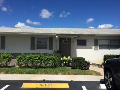 West Palm Beach Single Family Home For Sale: 2855 Crosley Drive E #C