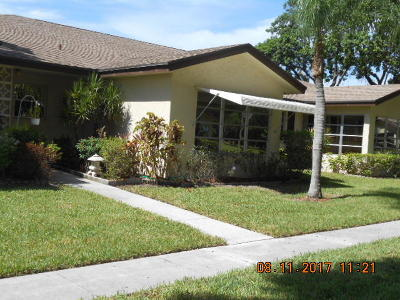 Delray Beach Single Family Home For Sale: 5270 Nesting Way #B
