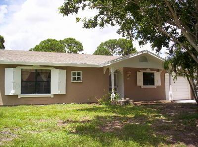 Port Saint Lucie Single Family Home For Sale: 2351 SE Fruit Avenue