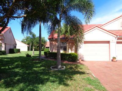 Delray Beach Single Family Home For Sale: 7720 Lexington Club Boulevard #A