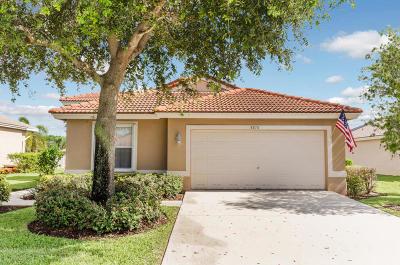 Lake Worth Single Family Home For Sale: 5378 Oakmont Village Circle