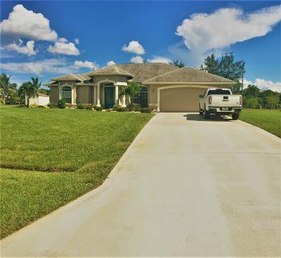 Port Saint Lucie Single Family Home For Sale: 157 SW Meade Circle