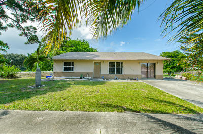 Lake Worth Single Family Home For Sale: 4985 Janelin Road