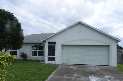 Port Saint Lucie Single Family Home For Sale: 181 SW Ray Avenue