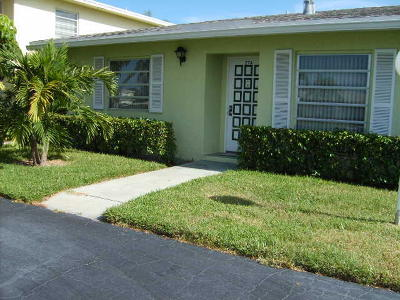 Delray Beach Single Family Home For Sale: 2520 Juniper Drive #27-A