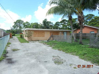 West Palm Beach Single Family Home For Sale: 3942 Dale Road
