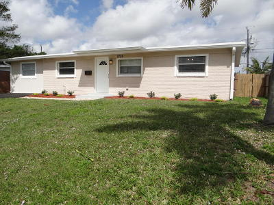 Palm Beach Gardens Single Family Home For Sale: 3739 Catalina Road