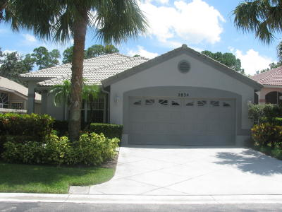 West Palm Beach Single Family Home For Sale: 2834 Waters Edge Circle
