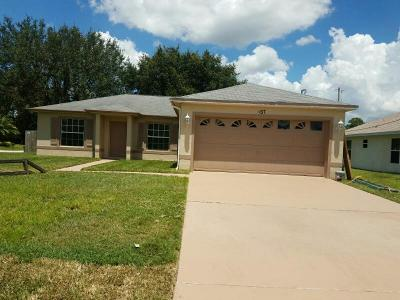 Port Saint Lucie Single Family Home For Sale: 1437 SW Bartell Avenue
