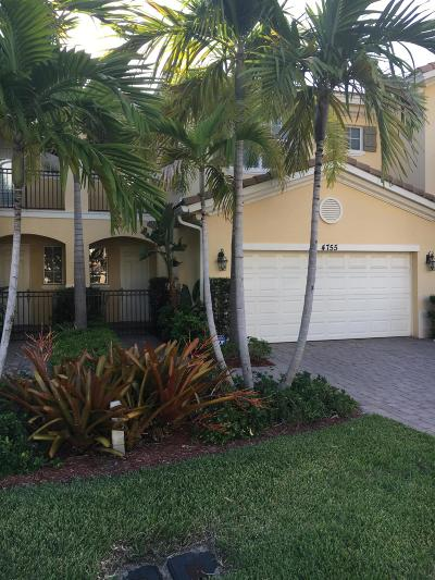 Palm Beach Gardens Townhouse For Sale: 4755 Cadiz Circle