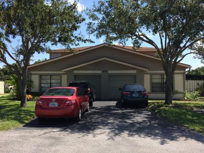 West Palm Beach Townhouse For Sale: 4371 Willow Pond Road #a