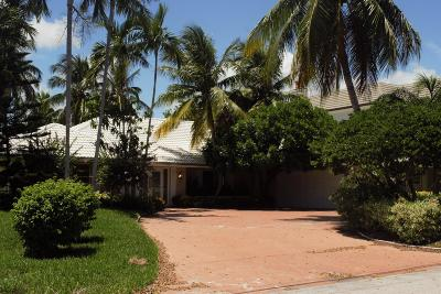 Broward County, Palm Beach County Single Family Home For Sale: 1801 Spanish River Road