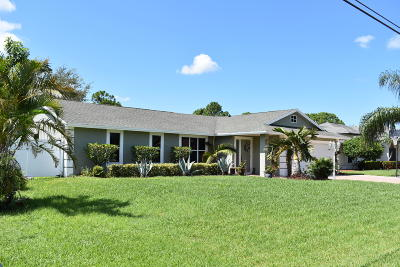 Port Saint Lucie Single Family Home For Sale: 358 SW Eyerly Avenue