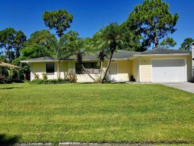 Port Saint Lucie Single Family Home For Sale: 2872 SW Giralda Street
