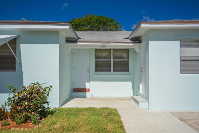 Lake Worth Single Family Home For Sale: 929 Palmway