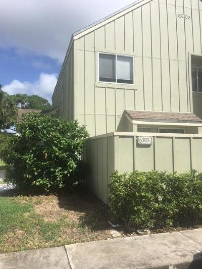 Jupiter Townhouse For Sale: 6303 Riverwalk Lane #1