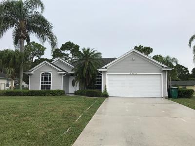 Port Saint Lucie Single Family Home For Sale: 2102 SW Best Street