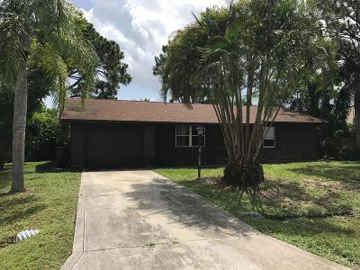 Port Saint Lucie Single Family Home For Sale: 1619 SE Trumpet Lane