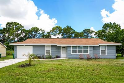 Port Saint Lucie Single Family Home For Sale: 1150 SE Proctor Lane