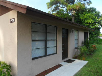 West Palm Beach Single Family Home For Sale: 2574 Ida Way #5a