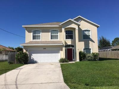 Port Saint Lucie Single Family Home For Sale: 6448 NW Fagan Street
