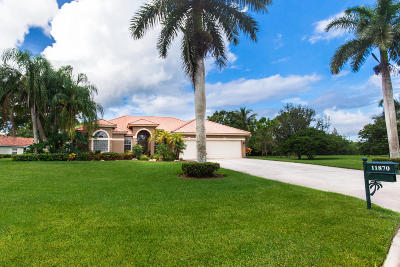 West Palm Beach Single Family Home Contingent: 11870 Dunbar Court