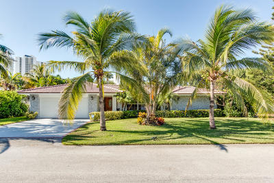 Singer Island Single Family Home For Sale: 1271 Singer Drive