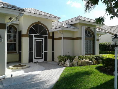 Lake Worth Single Family Home For Sale: 5481 White Sands Cove