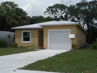 Jupiter Single Family Home For Sale: 6891 4th Street