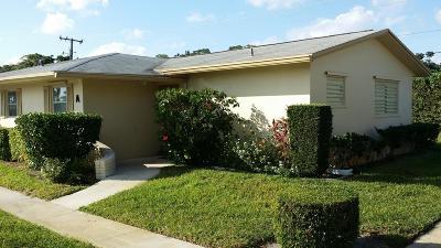 West Palm Beach Single Family Home For Sale: 2541 Barkley Drive W #A