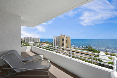Highland Beach Condo For Sale: 3450 S Ocean Boulevard #Penthous