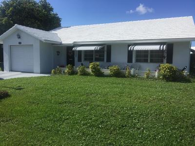 Boynton Beach Single Family Home For Sale: 2205 SW 22 Way SW
