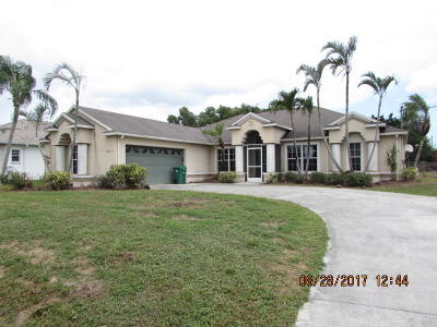 Port Saint Lucie Single Family Home Contingent: 3445 SW Catskill Drive