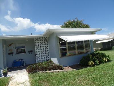 Boynton Beach Single Family Home For Sale: 255 Main Boulevard #D